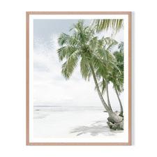 Perfect Island Framed Printed Wall Art