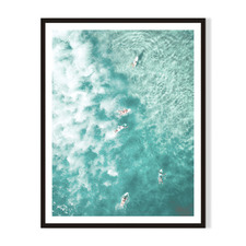 Surfs Up Dude Framed Printed Wall Art