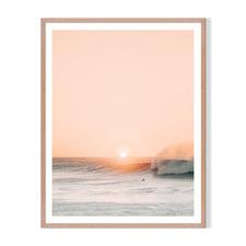 Peach Sunset Framed Printed Wall Art