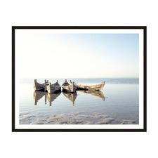 4 Boats Framed Printed Wall Art