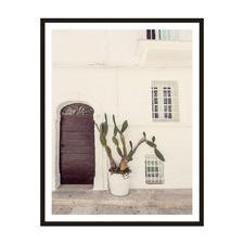 White Pot Framed Printed Wall Art