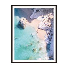 Private Beach Framed Printed Wall Art