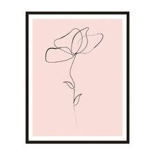 Flower Line 1 Framed Printed Wall Art