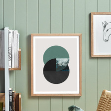 Emerald Dichotomy Framed Wall Art