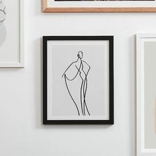 Line Girl 2 Framed Wall Art