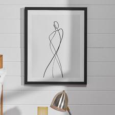 Line Girl 1 Framed Wall Art