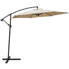 Beige 300cm Outdoor Cantilever Umbrella