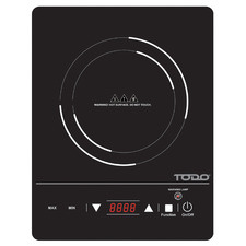 Black High Power Single Infrared Cooktop