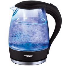 1.7L Cordless Removable Tea Infuser Glass Kettle