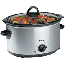 Silver 3.5L Stainless Steel Slow Cooker