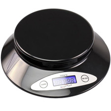 Black 2kg Sleek Kitchen Scales