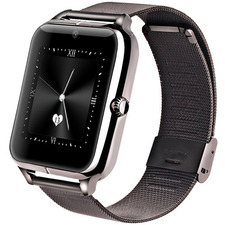Black Zach Touch Screen Smart Watch