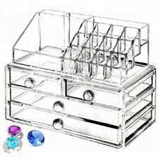 Clear 4 Drawer Blees Make-Up Organiser