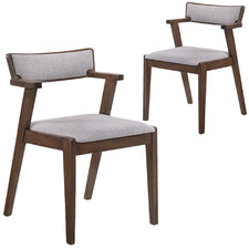 Grey Elm Dining Chairs (Set of 2)