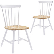 Natural Ori Rubber Wood Dining Chairs (Set of 2)
