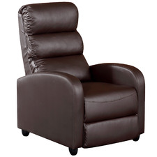 Brown Millio Faux Leather Recliner Armchair