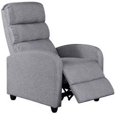 Grey Millio Fabric Recliner Armchair