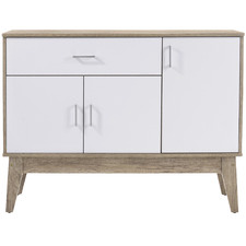 Oak & White Large Scandi Shoe Cabinet