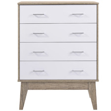 Oak & White Scandi Chest of Drawers