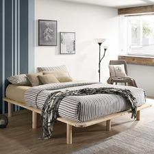 Natural Cali Wooden Bed Base