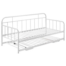 White Dika Metal Daybed with Trundle