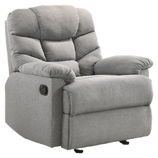 Light Grey Fabby Fabric Recliner Armchair