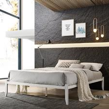 White Metro Metal Bed Base