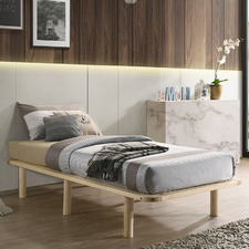 Natural Cali Wooden Bed Base