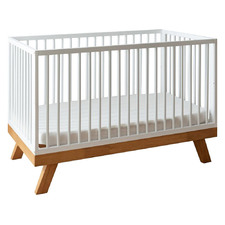 White Olivia Rubberwood 4-in-1 Convertible Cot