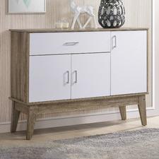 Oak & White Large Scandi Shoe Cabinet