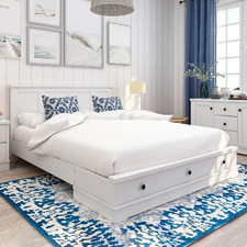 White Merlin 3 Drawer Bed