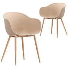 Natural Willis Beetle Dining Chairs (Set of 2)