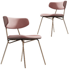 Carrie Velvet Dining Chairs (Set of 2)
