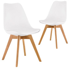Meryll Mid-Century Faux Leather Dining Chairs (Set of 2)