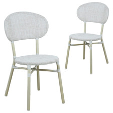 Light Grey Sander Outdoor Dining Chairs (Set of 2)