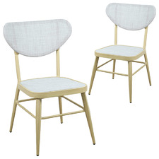Grey & Natural Frio Outdoor Dining Chairs (Set of 2)