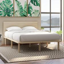 Natural Derrick Wooden Bed