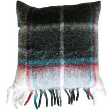 Check Cabin Wool-Blend Cushion