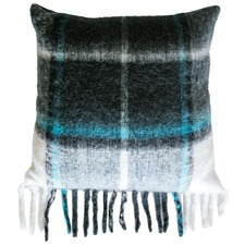 Check Cabin Wool-Blend Cushion