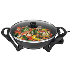 Black 4L Electric Wok