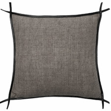 Trimmed Burton Square Linen Cushion