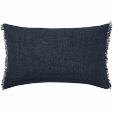 Fringed Burton Rectangular Linen Cushion
