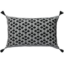 Embroidered Marais Cotton Cushion