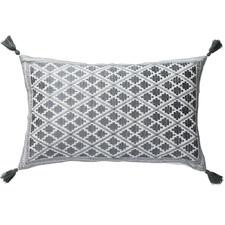 Embroidered Marais Cotton Cushion