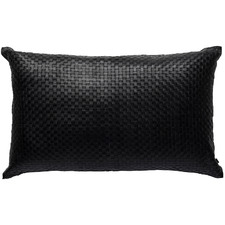 Woven Napa Rectangular Leather Cushion
