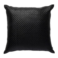 Woven Napa Square Leather Cushion