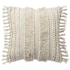 Plaited & Tasselled Noosa Cotton Cushion