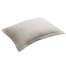 Flax Aspen Quilted Cotton Standard Pillowcase