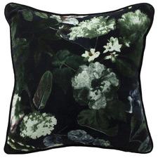 Black Botanica Velvet Cushion