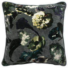 Grey Botanica Velvet Cushion